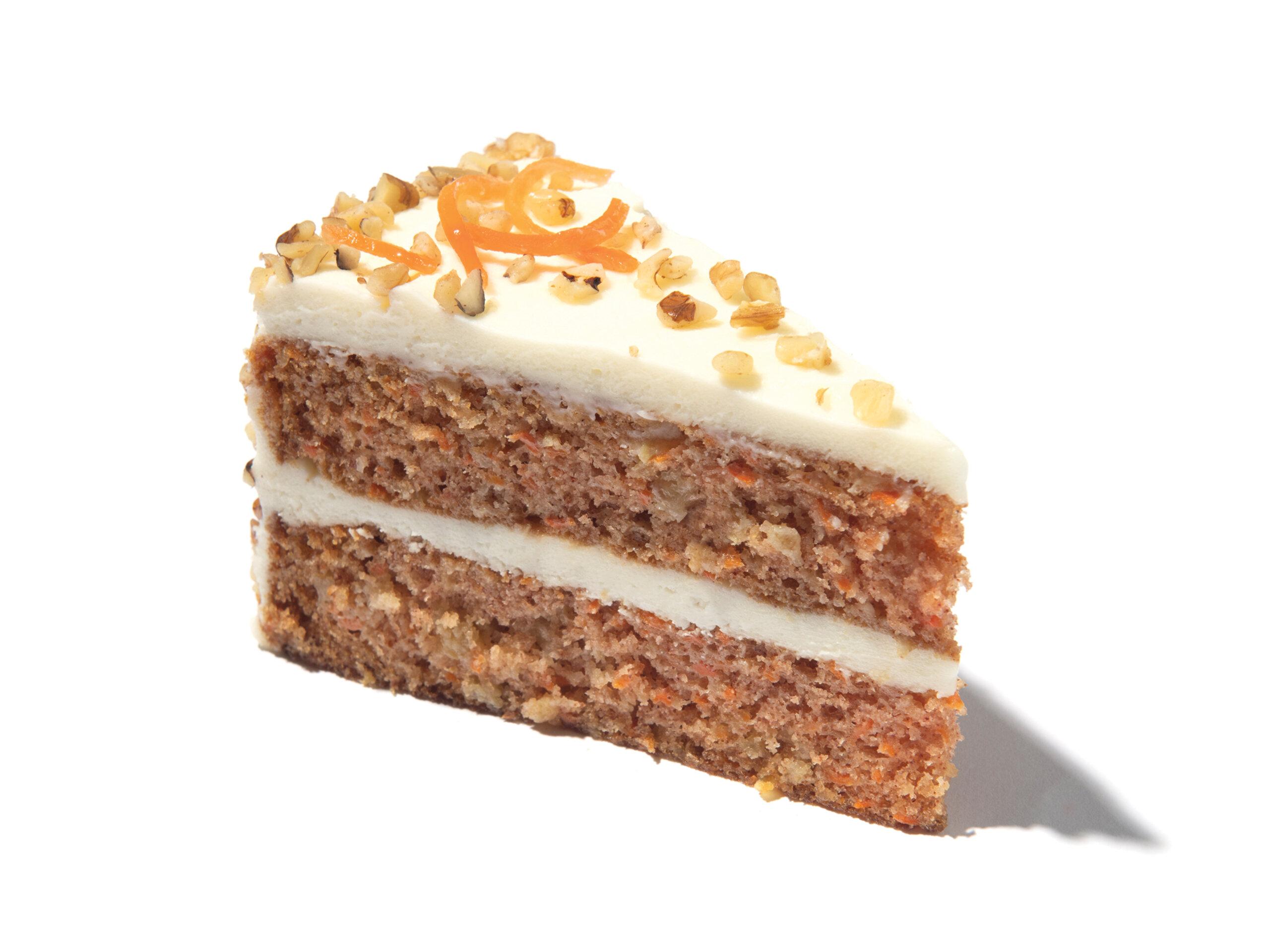 A slice of Eli's Carrot Cake