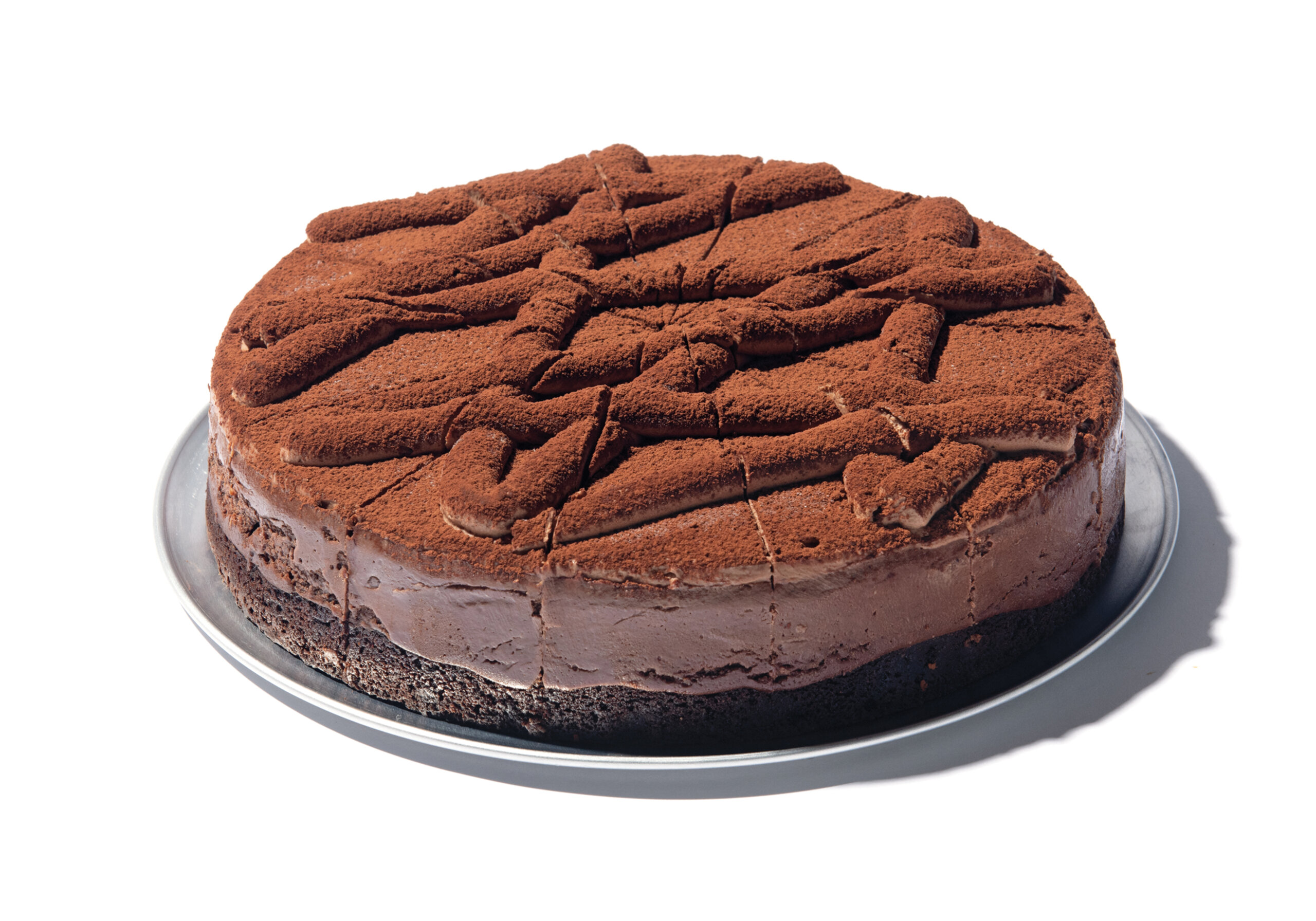 Eli's Double Chocolate Cheesecake made with Ghirardelli