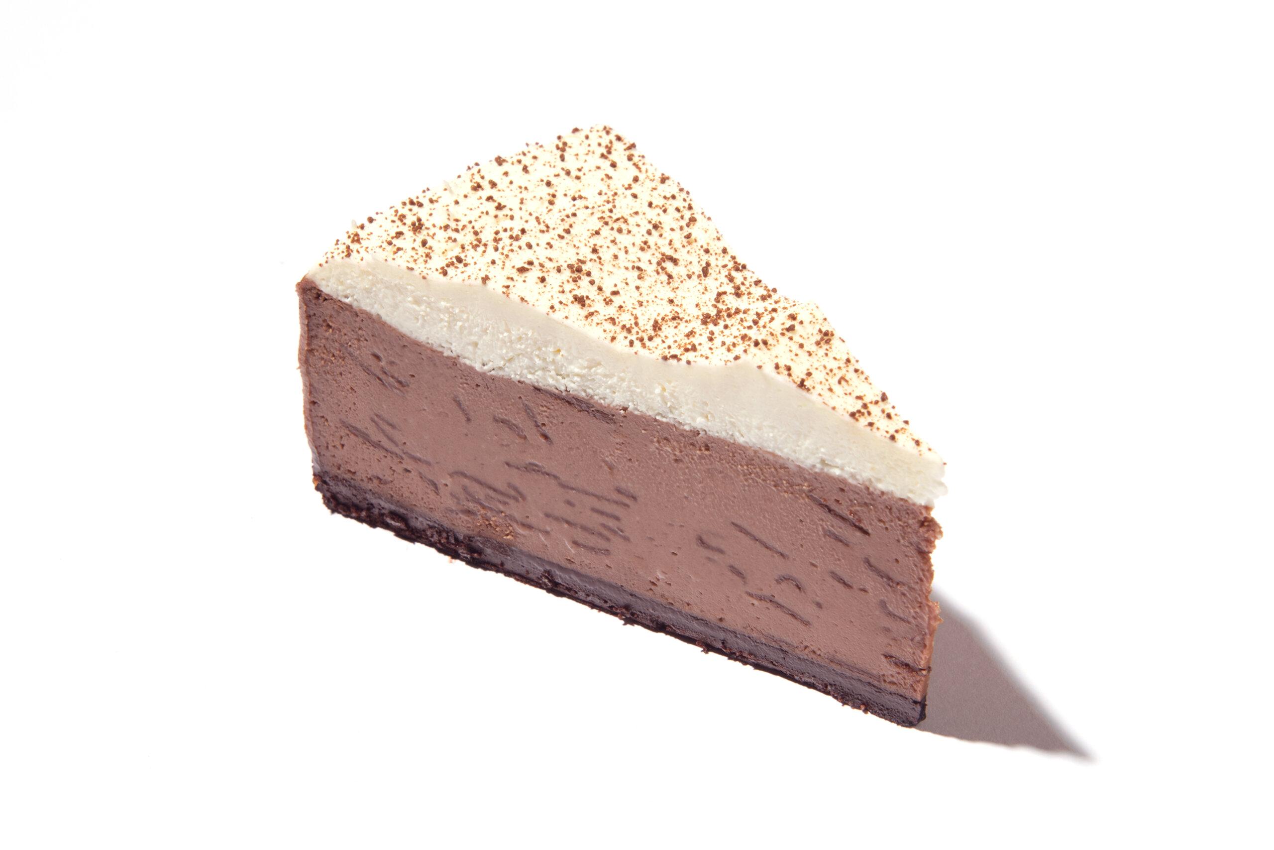 A slice of Eli's Hot Chocolate Cheesecake