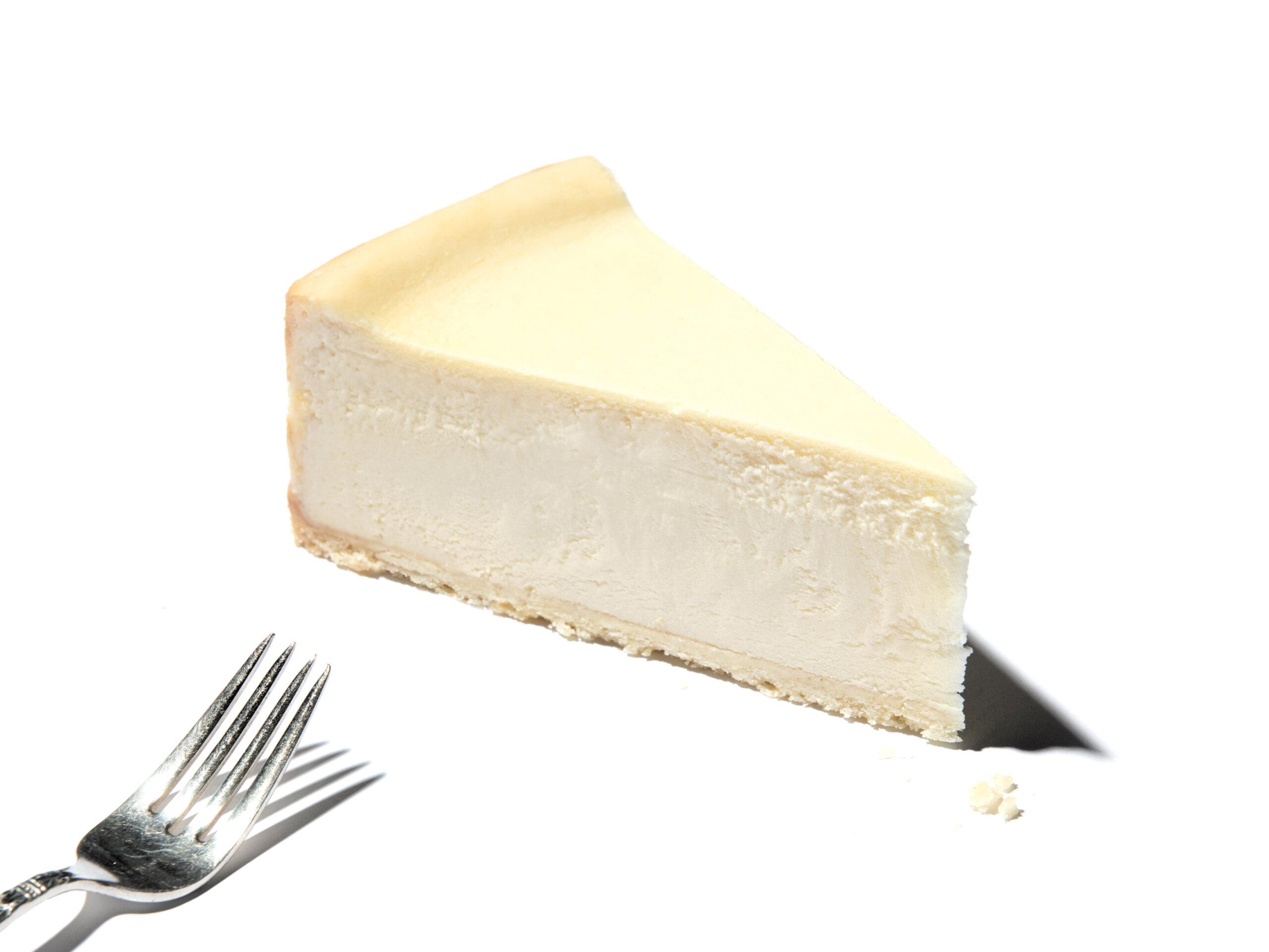 A slice of Eli's OriginalPlain Cheesecake