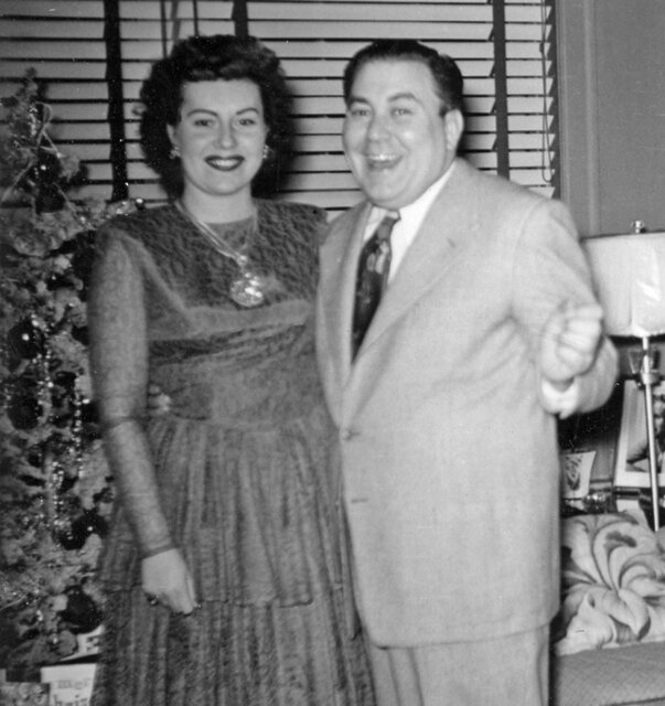 Eli and Esther Schulman Christmas 1949